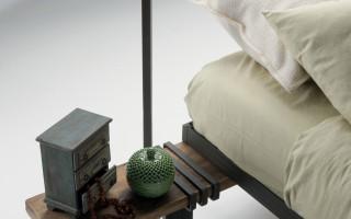 letto design legno recupero