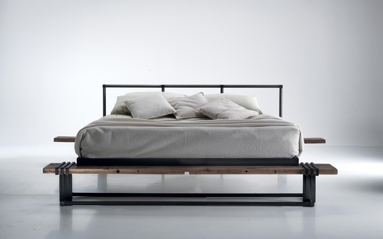 letto design legno recupero - Arredamento Moderno italianironlab.com
