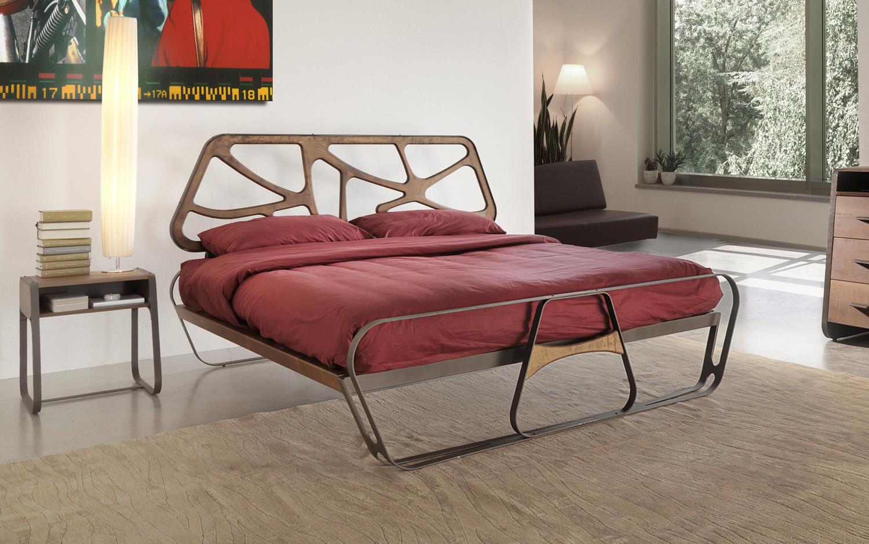Letto ferro legno arredamento moderno for Letti designer
